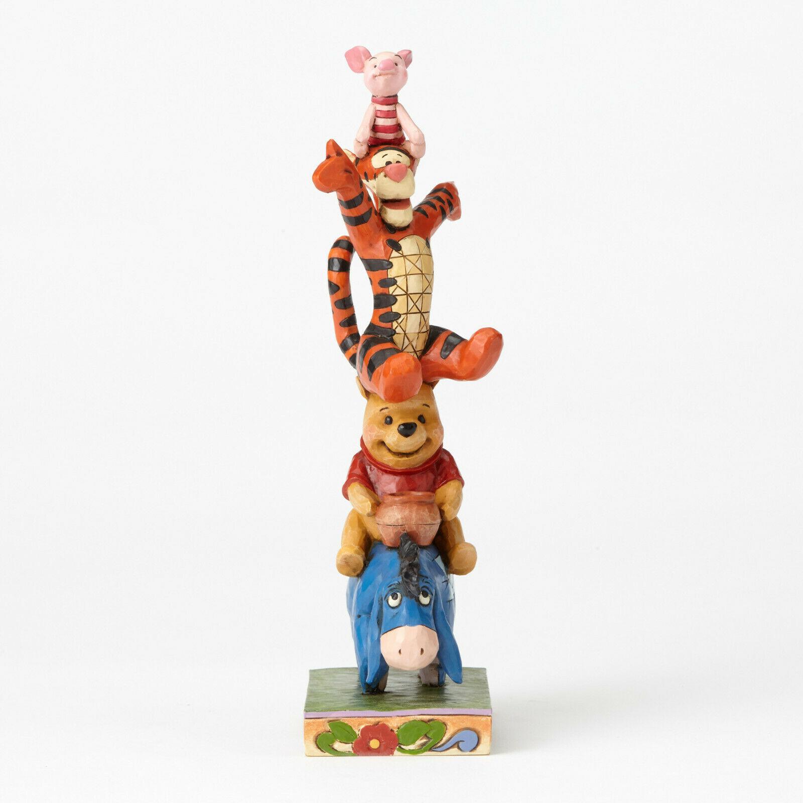 "8"" Built by Friendship "" Eeyore, Pooh, Tigger & Piglet Stacked Jim Shore Designs"