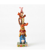 """8"""" Built by Friendship """" Eeyore, Pooh, Tigger & Piglet Stacked Jim Shore... - $74.24"""