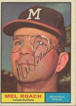Mel Roach 1961 Topps Autograph #217 Brewers - $18.58