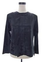 Vintage 80's First Glance Black Satin Blouse Medium - $24.00