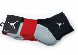Nike 3 Pair Quarter Crew Boys Socks, Assorted (Shoe Size: 5Y-7Y) - $12.99