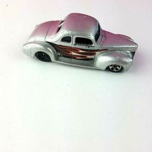 2001 Ford Coupe Mattel Hot Wheels Silver Flame Car Loose  - $10.88