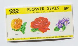 Eureka, Flower Seals, 36 seals of 6 different designs - $3.50