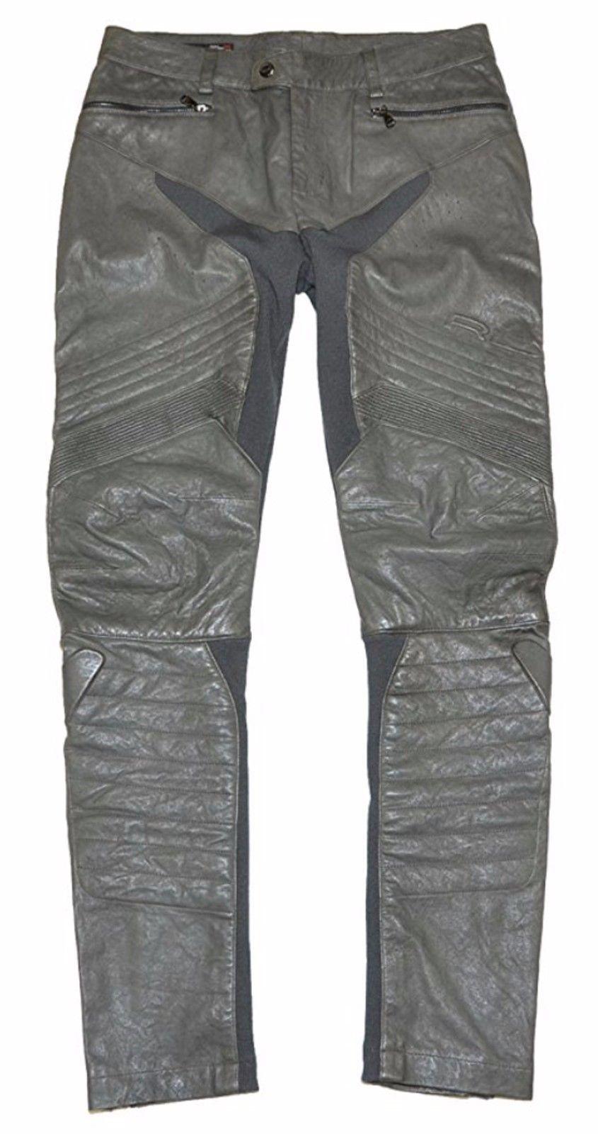 RLX by Ralph Lauren Women Leather Pants - Size S - Dark Grey