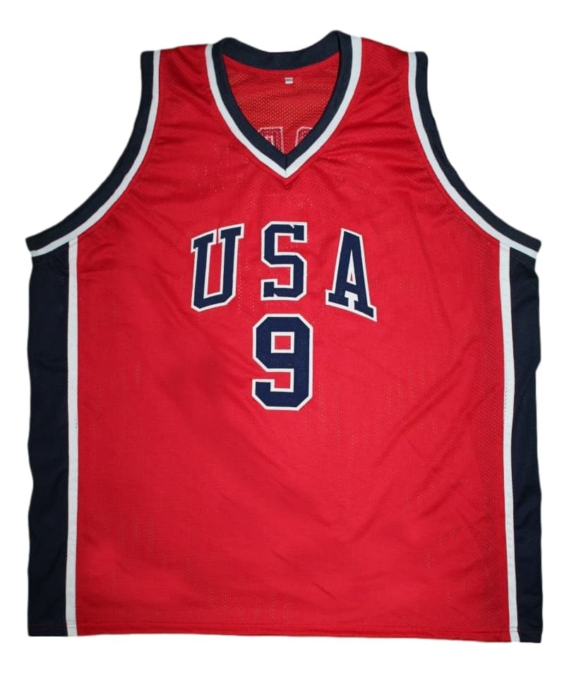 Michael Jordan #9 Team USA New Men Basketball Jersey Red Any Size