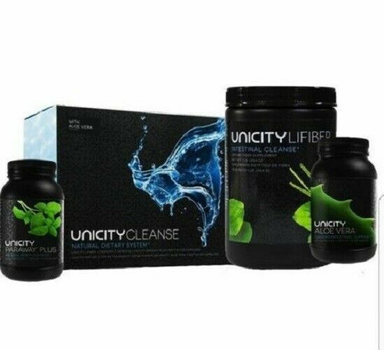 """Unicity Cleanse with Aloe Vera """"Paraway Pack"""" Natural Digestive Dietary Fiber - $106.92"""