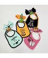 Baby Bib & Headband Set Halloween Choose Style Cat Pumpkin Monster Ghost... - $3.50