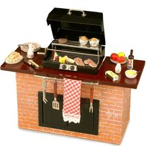 Deluxe Barbecue Grill Station with Food BBQ 1.712/2 Reutter DOLLHOUSE Miniature - $134.37