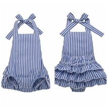 Toddler Kids Baby Girls Clothes Sleeveless Stripe Romper Jumpsuit Casual... - $9.39