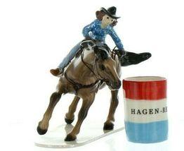 Hagen Renaker Specialty Horse Rodeo Barrel Racer Ceramic Figurine image 8