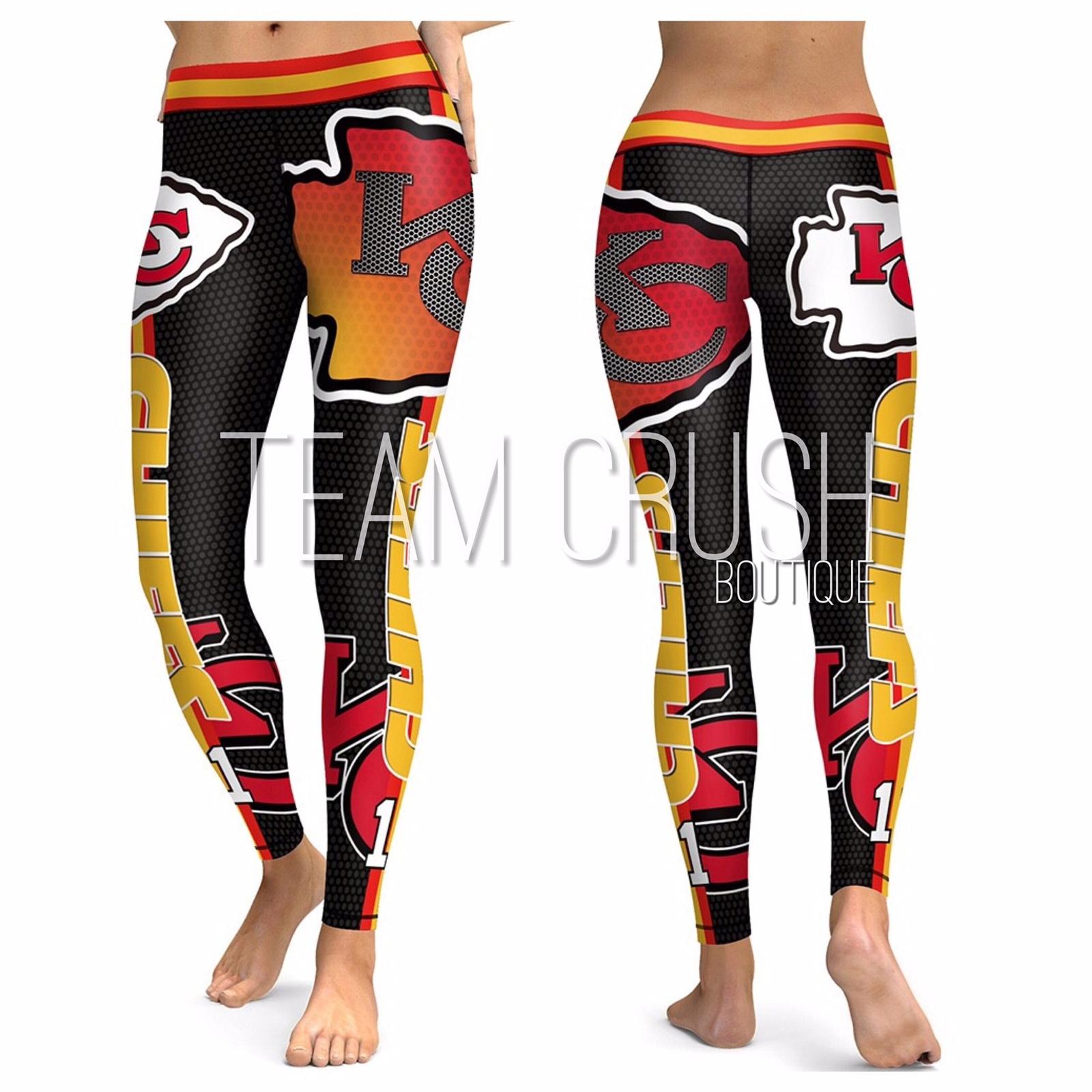 newest a5339 1f43b KC CHIEFS Leggings - #11 Women Fan Gear - and 50 similar items