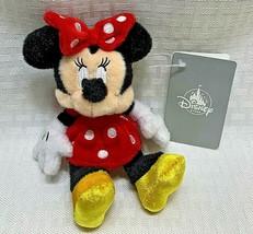 Tokyo Disney Store Plush Classic Minnie Pin Badge Keychain NWT - $34.99