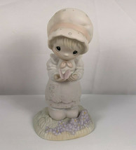 Enesco Precious Moments Figurine We Are God's Workmanship Girl Butterfly - $12.82