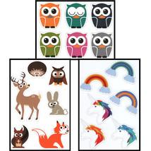 Kikkerland OWL, RAINBOW/UNICORNS or WOODLAND ANIMALS Refrigerator Magnet... - $3.49