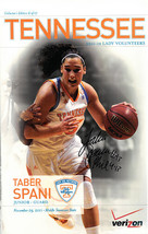 Taber Spani signed 2011-12 Tennessee Lady Vols 11x17 Poster #13 (Women's... - $21.95