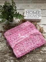 Dishcloth Set Handmade Kitchen Crochet Dish Cloths  Crochet Pink White S... - $18.75
