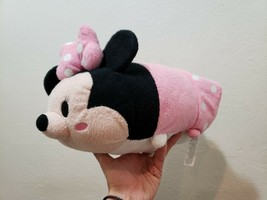 "Disney Store Minnie Mouse Tsum Tsum Pink Plush Medium 11"" Inch - $8.79"