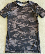 Champion Boys Power Core Black Gray Camouflage Short Sleeve Shirt Medium... - $8.33