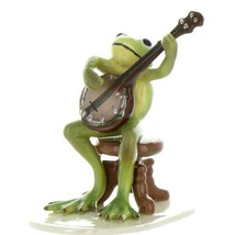 Hagen Renaker Miniature Frog Froggy Mountain Breakdown Banjo Ceramic Figurine