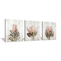 Floral Canvas Wall Art Print: Flower Bloom Picture Graphic Artwork Painting for