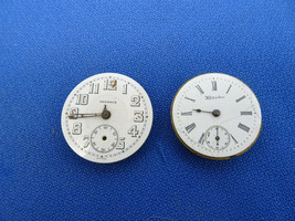 HAMPDEN AND ADVANCE PENDANT OR TRENCH WATCH MOVEMENTS FOR VINTAGE REPAIR... - $110.30