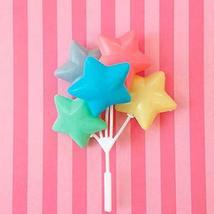 3 Pastel Star Balloon Cupcake Toppers Cake Picks Twinkle Twinkle Little Star Pla - $15.84