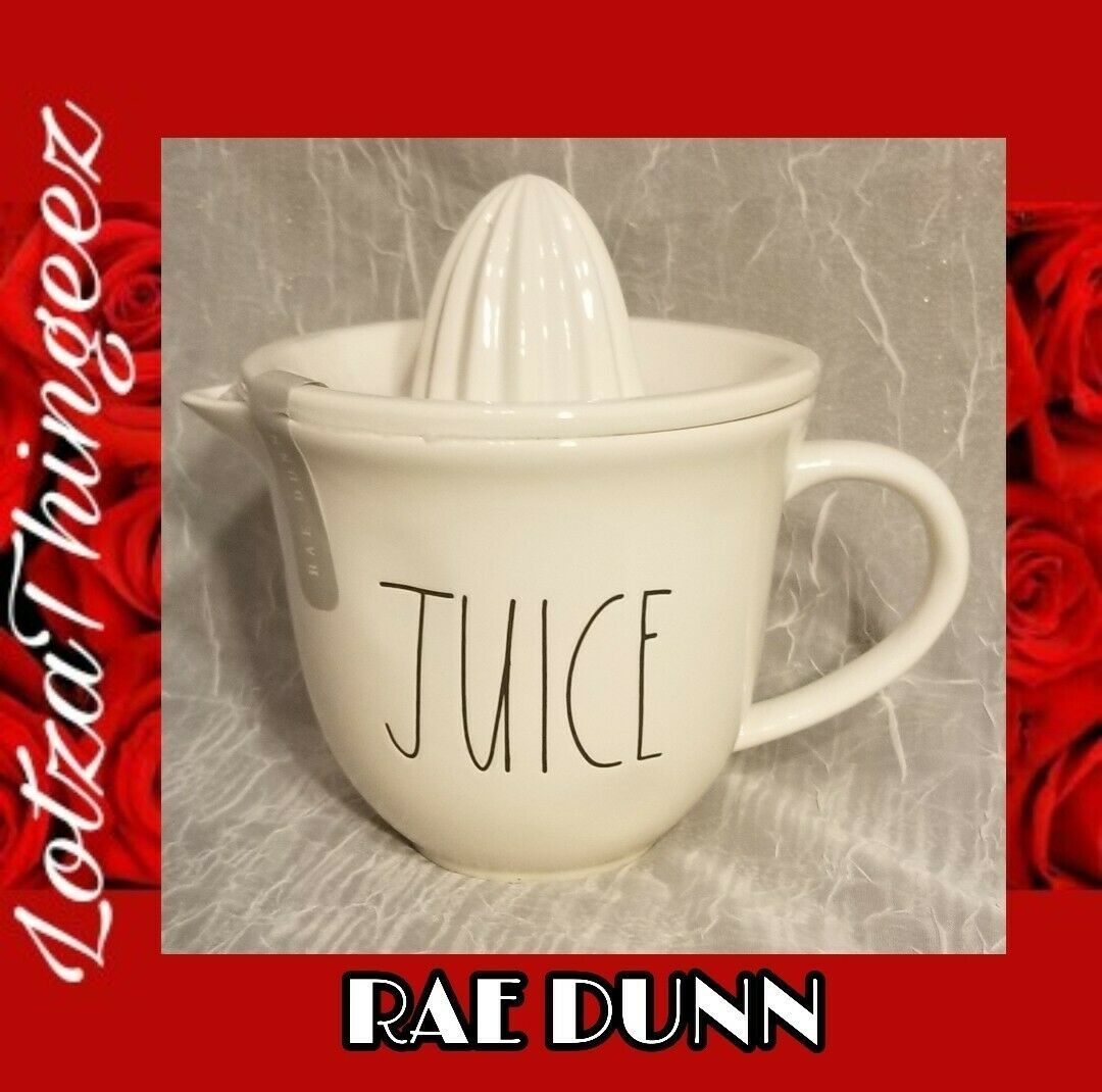 New RAE DUNN Artisan Collection Juicer JUICE LL Large Letters