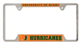 Miami Hurricanes Heavy Duty Chrome Metal License Plate Frame - $13.95