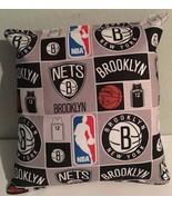 Nets, Pillow Brooklyn, New York, Pillow NBA, Handmade in USA Pillow, Bas... - $11.96