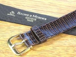 Baume & Mercier Genuine Vintage Swiss Watch Strap Band Brown Lizard Leather 17mm - $118.75