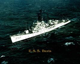 USS DAVIS DD 937 Custom Photo B & W Hand Colored Copy Print - $12.95+