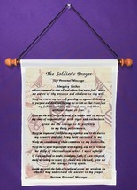The Soldier's Prayer - Personalized Wall Hanging (343-1) - $18.99