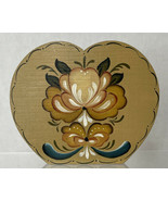 Original TOLE PAINTING  Signed W.L. Lorenz Heart Candle Stick Rosemaling - $23.71