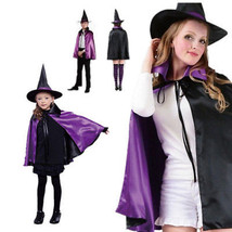 Chic Cosplay Costume Party Prop Children Kids Reversible Witch Cape Cloa... - $6.82