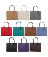 JOY & IMAN Genuine Leather Hollywood Glamour Handbag With Goldtone Frame - $23.75+
