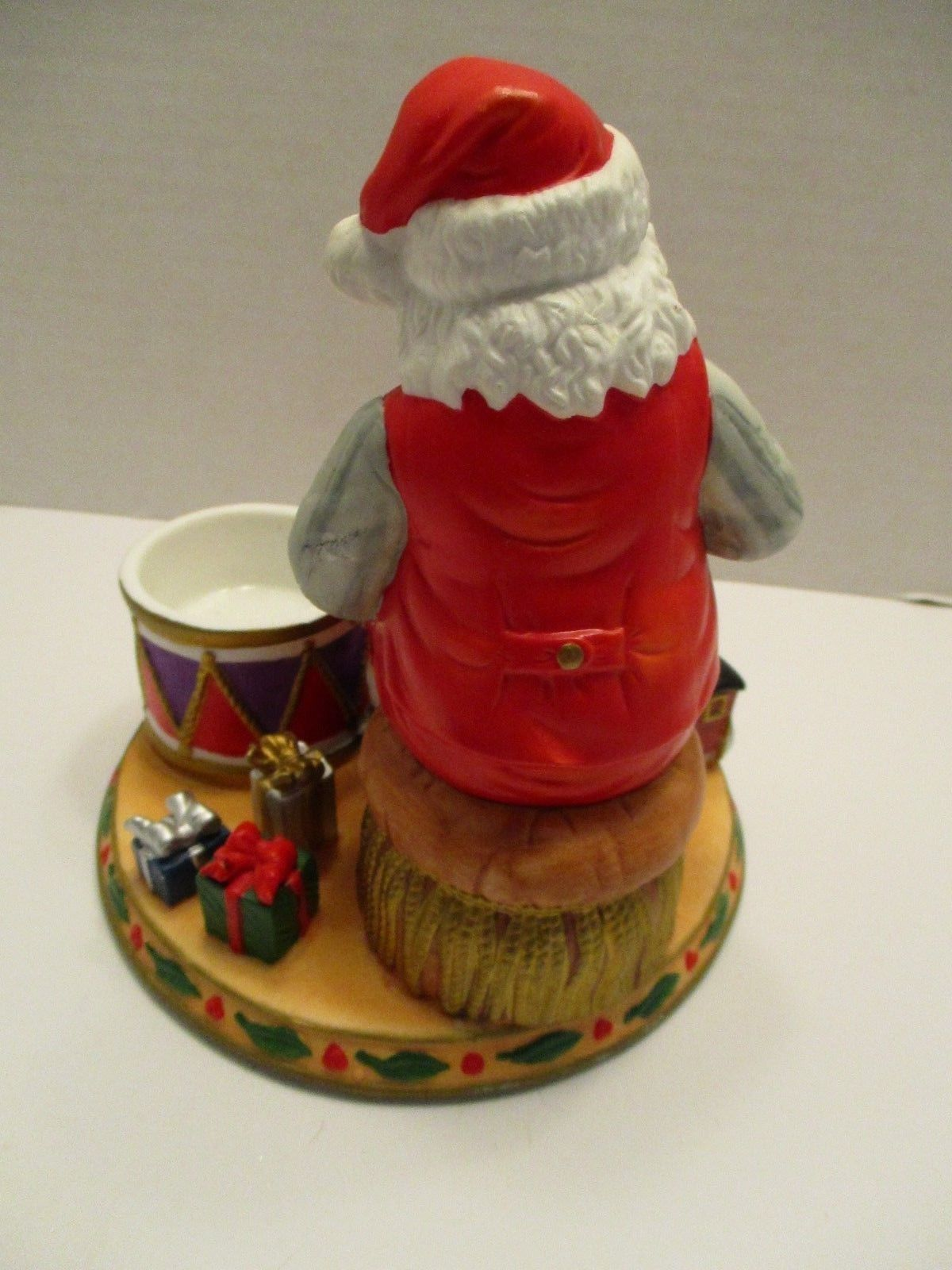 Partylite Santa Claus Checking his List Tealight Candle Holder Christmas