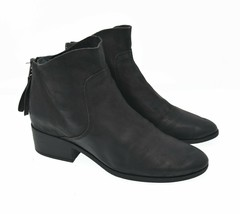 Lucky Brand Women's Sz 8M EU 38 Black Leather Zip Up Ankle Boots - $44.99