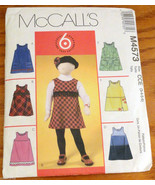 Girls Jumper dress sizes 3 4 5 6 pockets fringe McCall's Sewing Pattern ... - $5.75