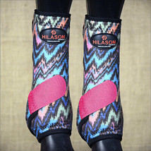 Medium Hilason Horse Front Leg Sport Boot Ultimate Protection Zigzag Pink U-NK-M - $49.95