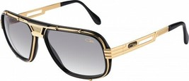 New Authentic CAZAL 665 001SG Black/Gold Retro 60mm Sunglasses - $391.02