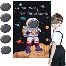 Pin the Mask on the Astronaut Game - Kids Solar System/Outer Space Birth... - $11.49