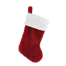 Darice Christmas Stocking with Fur: Red/White, 8 x 17 inches w - $8.99