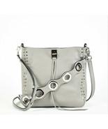 Rebecca Minkoff Darren Small Deerskin Leather Feed Bag - Grey (Retail $295) - $133.65