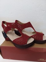 JBU by Jambu Women's CHLOE Wedge Sandal RED Size 7 - $36.49