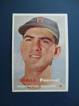 1957 TOPPS BASEBALL CARD #211 CAMILO PASCUAL WASHINGTON SENATORS - $3.95