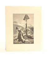 "Mathias Schmid Women in Front of the Crucifix Restrike Etching 14"" x 11"" - $38.69"