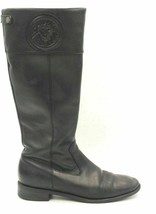 Anne Klein Women Leather Knee High Riding Equestrian Boots Size US 7.5M Black - $29.00