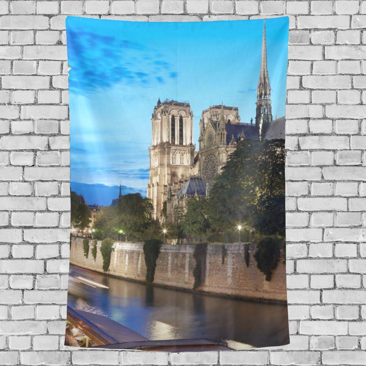 Notre Dame Home Decor: Rectangle Wall Tapestry Holy Sacred Notre Dame De Paris