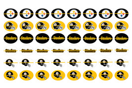 Precut PITTSBURGH STEELERS 12 x 16mm Shoelace Charm Oval Images Paracord... - $3.75
