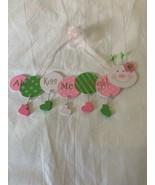 "Little Girls Room Nursery ""ALWAYS KISS ME GOODNIGHT"" Caterpillar Wall Ha... - $16.00"